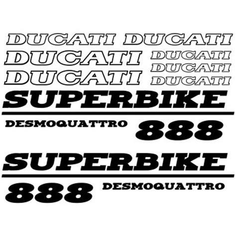 Ducati 888 Aufkleber by Wandtattoos Folies Ducati Aufkleber