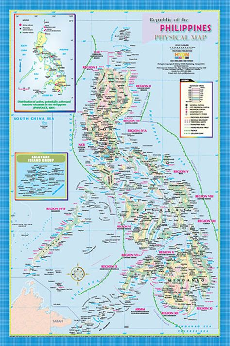 physical map of philippines hydn publishing maps and charts