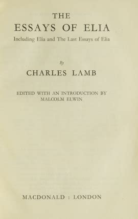 Some Essays Of Elia Charles by Search Results For Author Charles