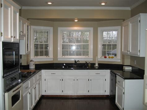 U Shaped Kitchen Cabinet Ideas Decor Tips Bay Window And White Kitchen Cabinet For U