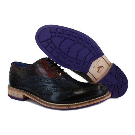 ted baker shoes ted baker rissh 2 mens leather black multicolour brogues