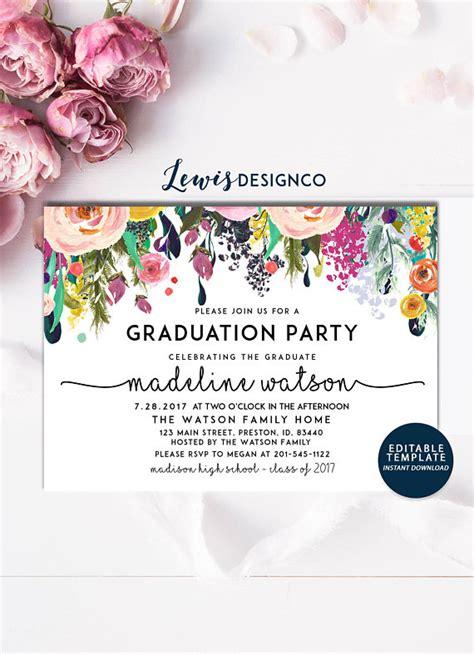 high birthday card template graduation invitation high school graduation invite