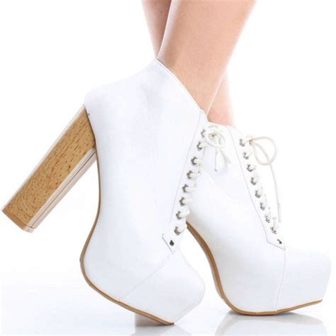 Cutie Bootie Shoes White shoes white cool high heels grunge