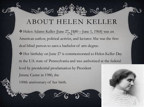 biography of helen keller in short helen keller quot the story of my life quot