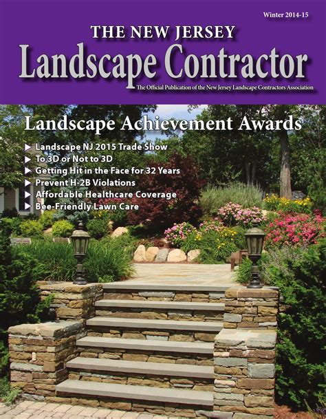 the new jersey landscape contractor winter 2014 2015 by