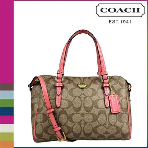 Coach Mini Flower Handbag Tas Coach Original coach peyton sig mini the boutique