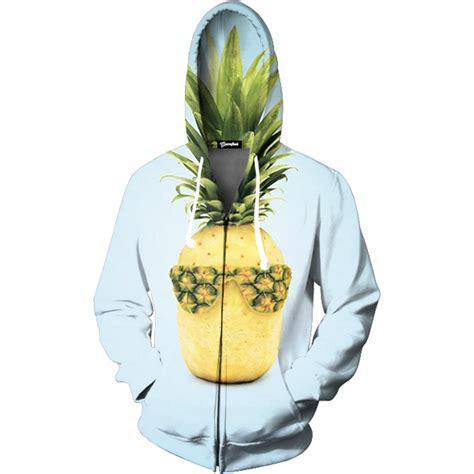 Pineapple Hoodie cool pineapple zip up hoodie all print apparel