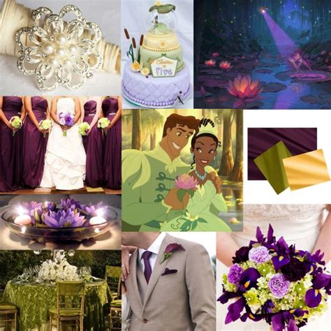 my disney princess and the frog themed wedding details pic heavy weddingbee