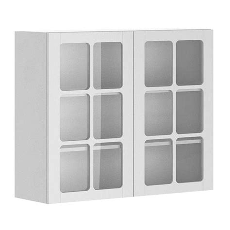 white wall cabinet with glass doors eurostyle odessa ready to assemble 36 x 30 x 12 5 in wall