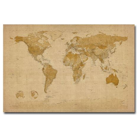 Canvas Decor Vintage World Map michael tompsett s antique world map canvas wall 236060 wall at sportsman s guide