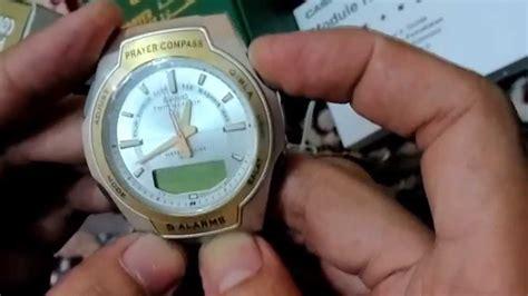 Jam Casio Dengan Kompas Kiblat jam casio kiblat synchronous between analogue digital