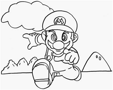 free coloring pages of super mario brothers