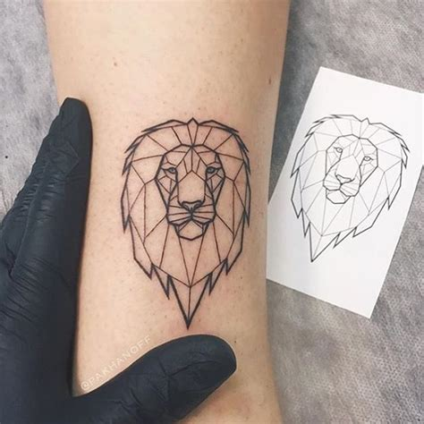minimalist tattoo lion pin by mariah watson on geometric tattoos pinterest