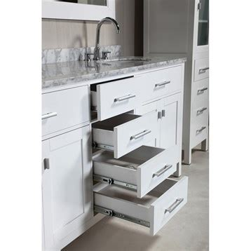 Bathroom Vanities And Linen Cabinet Sets Design Element 72 Quot Vanity Set With 2 Linen Cabinets White Free Shipping