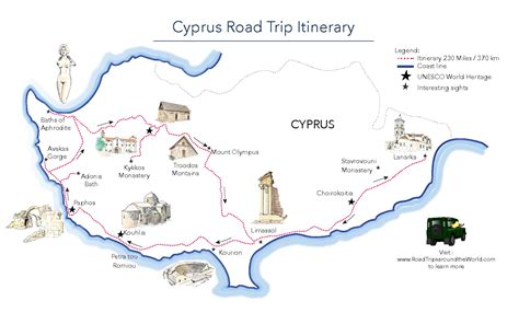 map a road trip a road trip in cyprus free printable map road trips