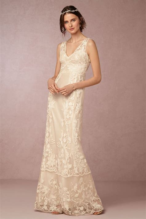 bhldn vintage inspired wedding dresses gowns embroidered lace wedding dress perfect for a backyard