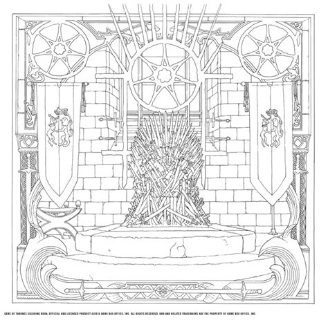 game of thrones coloring book see new pages ew com