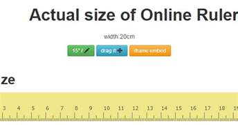 how to measure mm on computer online ruler actual size free online ruler web based