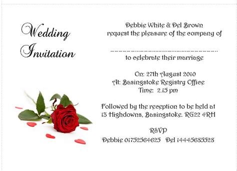 Wedding Invitations Ri by Word Templates Suitable Success