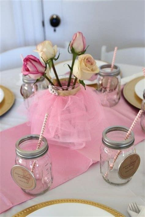 Ballerina Baby Shower Centerpieces by Vintage Ballerina Baby Shower Ideas Jars Centerpieces And Ballerina