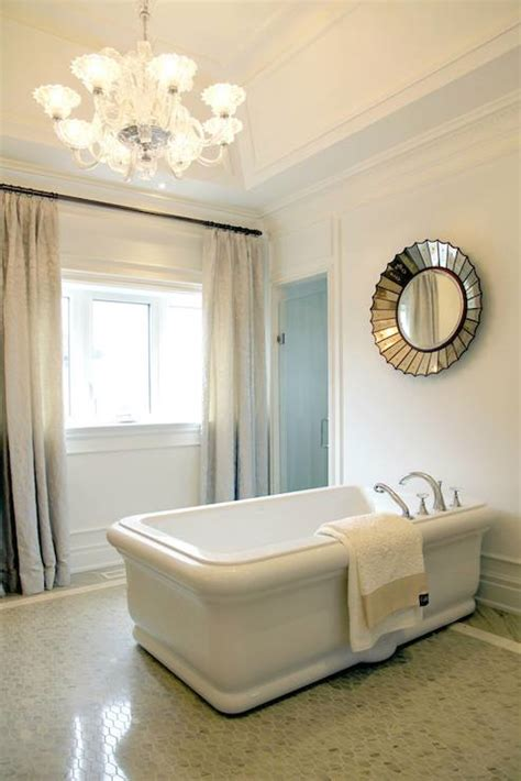 mirror over bathtub transitional bathroom tomas