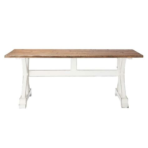 recycled wood slat dining table w 200cm sologne maisons