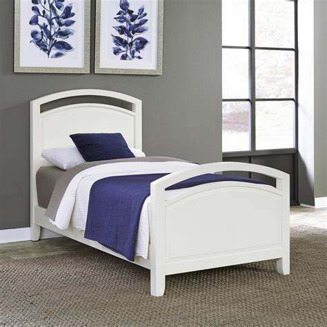 twin bed frame white dhp bombay white twin bed frame 3246098 the home depot