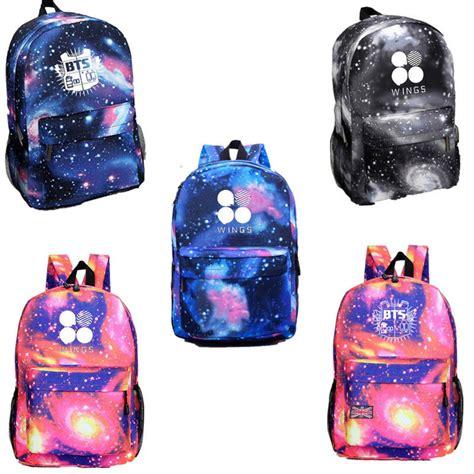 Backpack Btskpop kpop bangtan boys wings backpack bts schoolbag starry sky bag back to school jin ebay