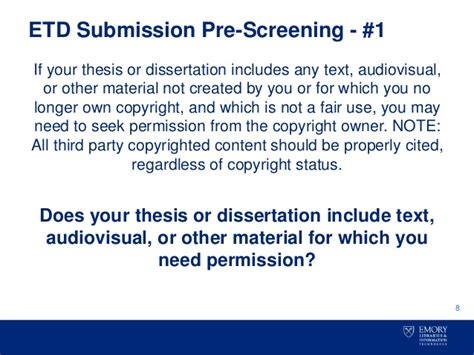 thesis or dissertation copyright your thesis or dissertation