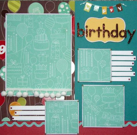 micro layout scrapbook 25 best ideas about birthday scrapbook layouts on