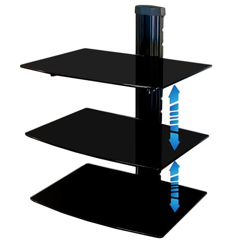 etagere halterung multimedia support fixations mural murale 3 etag 232 re pour