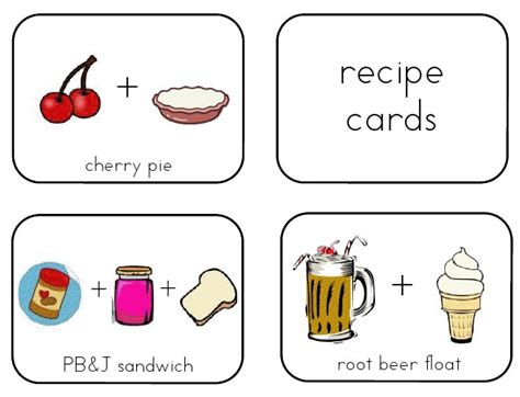 preschool cookie recipe card template 40 recipe card template and free printables tip junkie