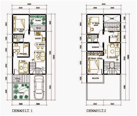 layout rumah islami denah rumah ukuran 7x20 rumah idamanku