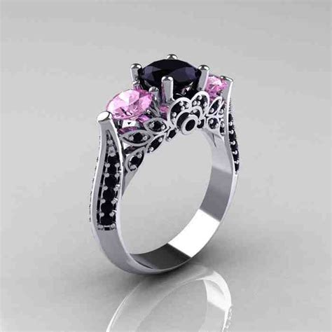pink engagement rings with diamonds wedding and