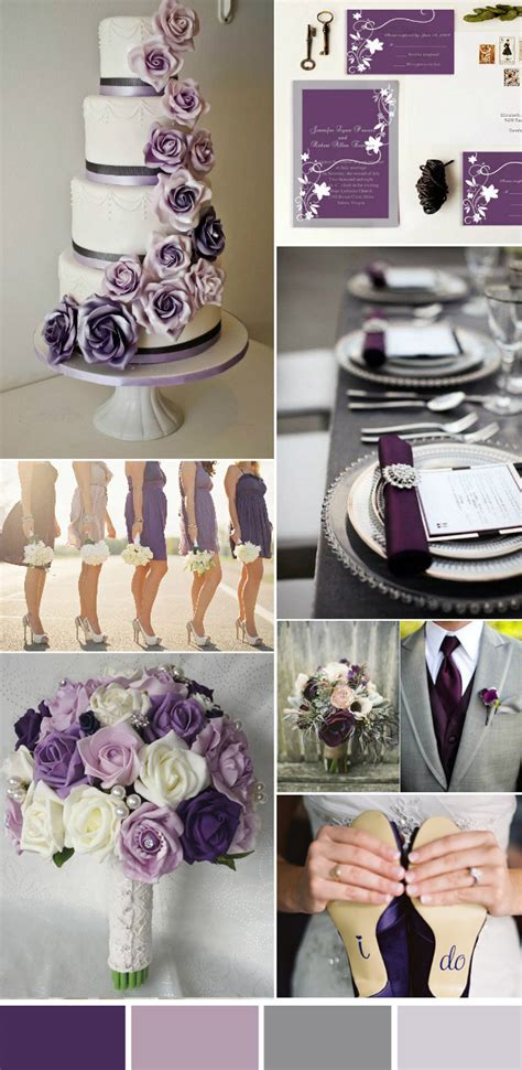 purple and gray wedding centerpieces five beautiful wedding colors in shades of grey