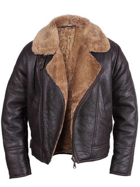 Jaket Bomber Rocafela 2 In 1 mens jacket shearling sheepskin world war 2 bomber leather flying aviator ebay