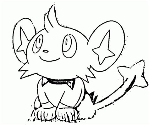 pokemon coloring pages shinx pokemon color page coloring home