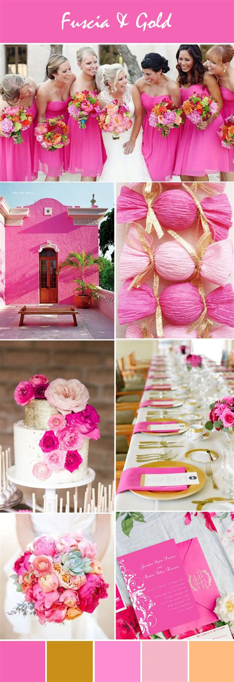 stunning bright pink wedding color ideas with invitations for summer