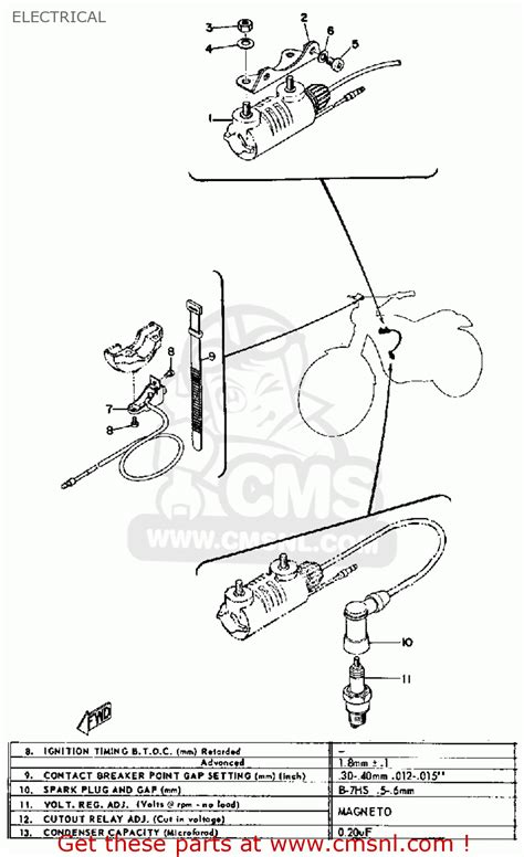 yamaha jt1 1971 usa electrical schematic partsfiche
