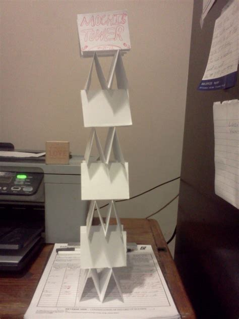 How To Make A Free Standing Paper Tower - paper tower 183 a papercraft 183 paper folding on cut out