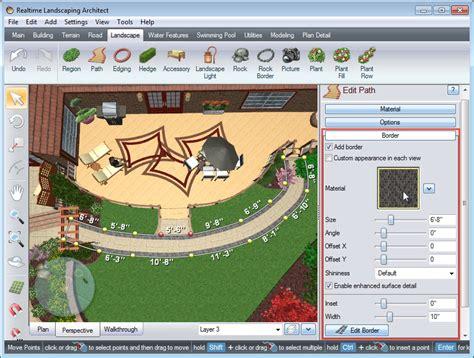 Landscape Design Software By Idea Spectrum Adding A Path