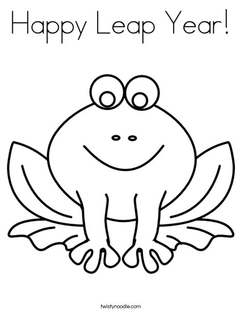 happy frog coloring page happy leap year coloring page twisty noodle