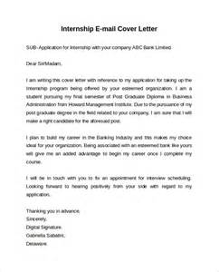 Email Cover Letter Internship by Email Cover Letter 7 Free Sles Exles Formats