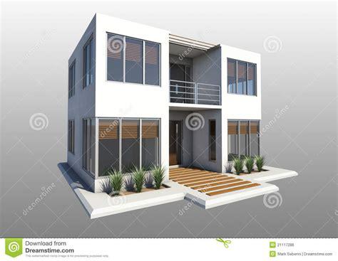 2 Story Duplex House Plans double maison moderne d histoire image libre de droits