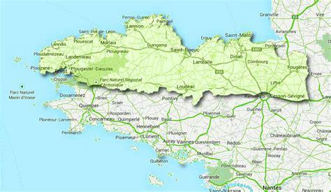 carte de bretagne avec villes principales images
