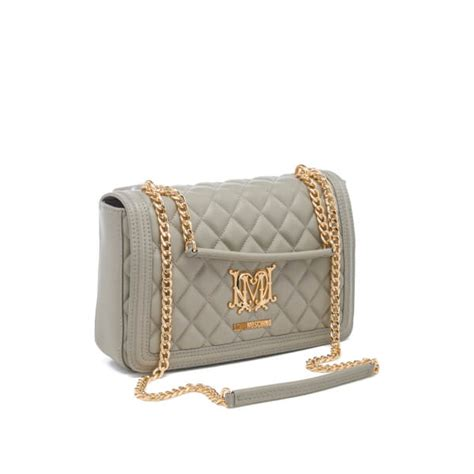 moschino s quilted chain tote bag grey free