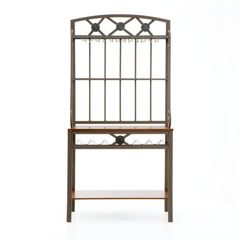 Bakers Rack For Kitchen by Decorative Bakers Rack With Wine Storage 579110 Kitchen