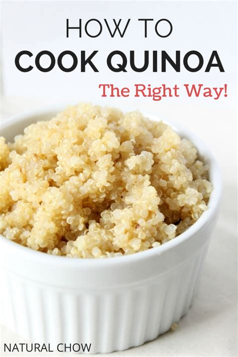 I How To Cook how to cook quinoa chow