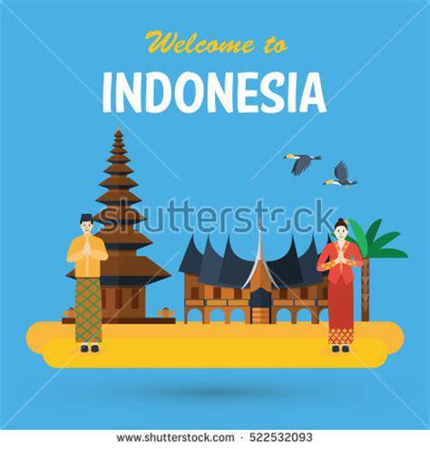 indonesia design vector vector cartoon clip art illustration old stock vector