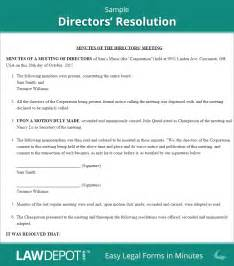 corporate resolution authorized signers template directors resolution form free board resolution